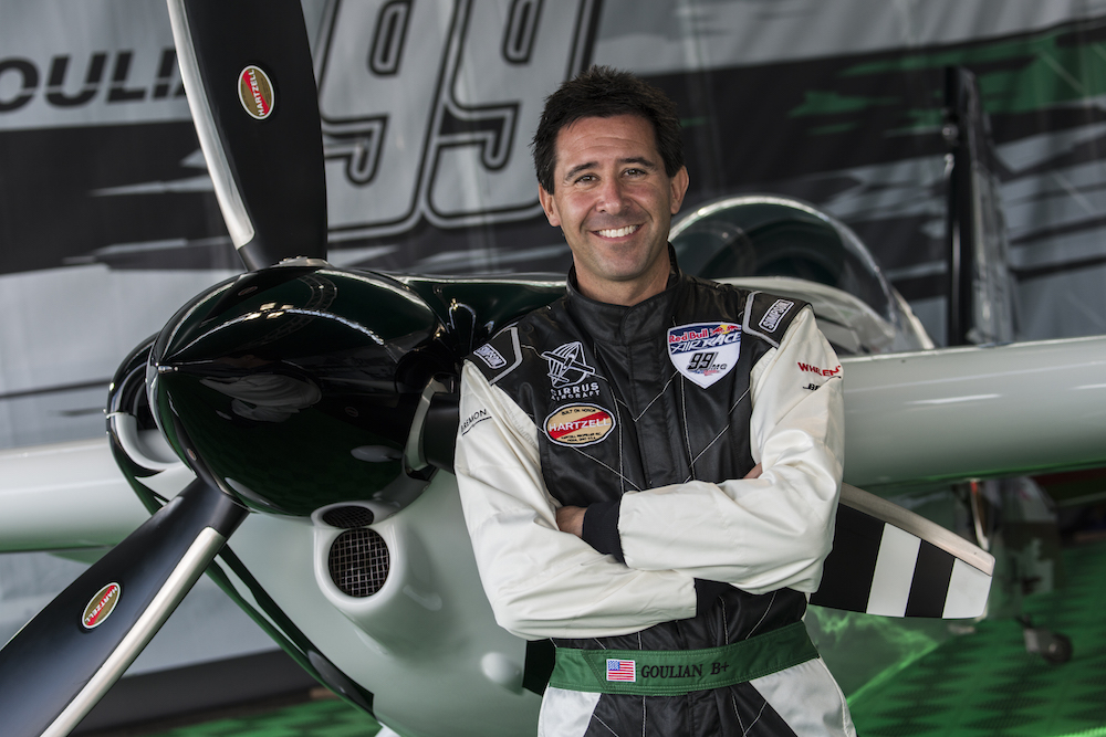 Michael Goulian of the United States of America poses for a photograph during the training for the second stage of the Red Bull Air Race World Championship in Rovinj, Croatia on April 11, 2014.