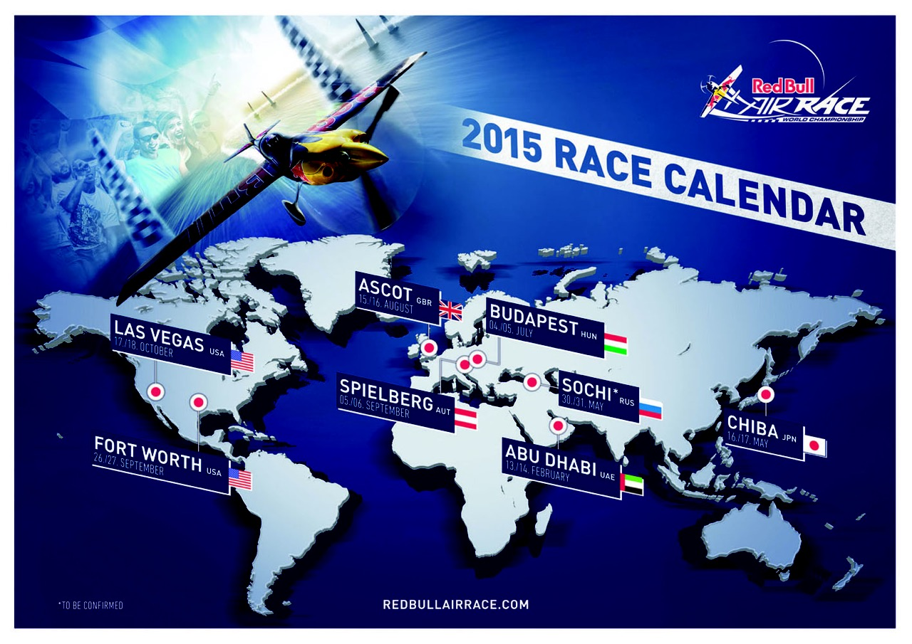 2015 Red Bull Air Race Schedule Announced