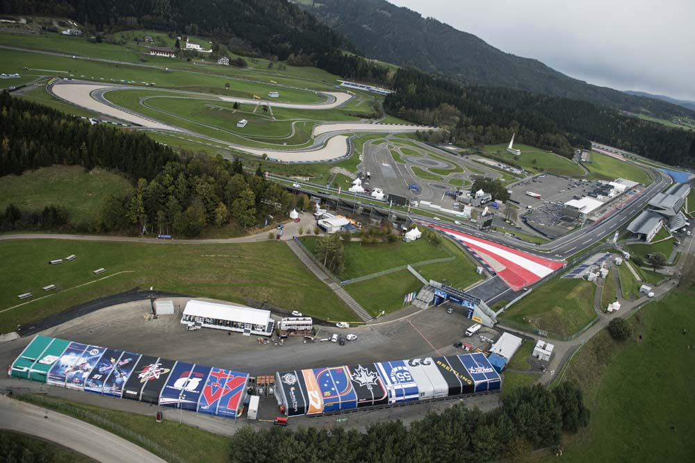 austria view red bull. The Location Of Eight Stage Red Bull Air Race World Championship At Ring Seen In Spielberg, Austria On October 22, 2014. View