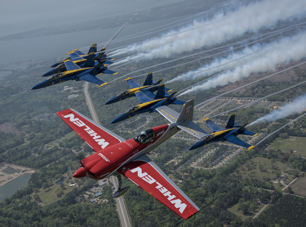 Blue Angels and Mike Goulian over Beaufort, SC