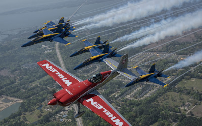 Mike Goulian and Navy Blue Angels Formation Flight